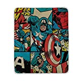 Captain-America Blanket for Bed Couch Chair Soft Warm and Comfy, Throw (50' X 60')