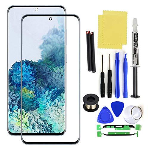 NXACETN Kit De Reparación De Pantalla De Lente De Vidrio Frontal Herramienta De Reemplazo Loca Compatible con Samsung Galaxy S20 Plus Ultra Blanco Compatible con Samsung Galaxy S20 Plus