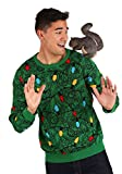 Fun Costumes Adult 3D Squirrel in The Christmas Tree Unisex Ugly Sweater Medium