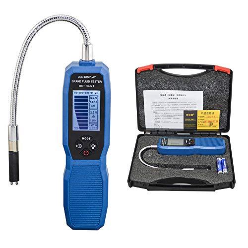 CONRAL Kfz-Bremsflüssigkeitstester Ölfeuchtigkeit Wassererkennung mit hochpräziser Sonde LCD-Anzeige für Auto DOT3 DOT4 DOT5.1-Diagnosedetektor, mit tragbarem Koffer