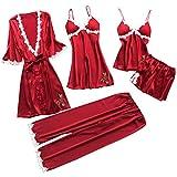 Susenstone 5Pc sous-VêTements Femme Lingerie Sexy Coquine Grand Taille Nightwear...