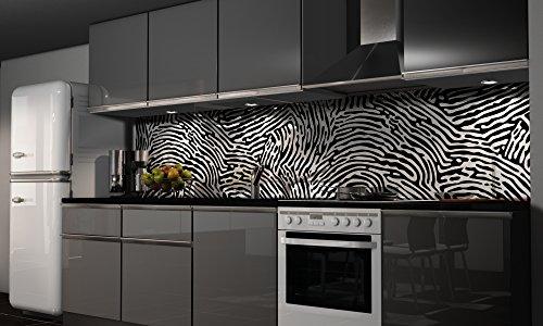 Küchenrückwand Folie selbstklebend Spritzschutz Fliesenspiegel Deko Küchenzeile Design | mehrere Größen