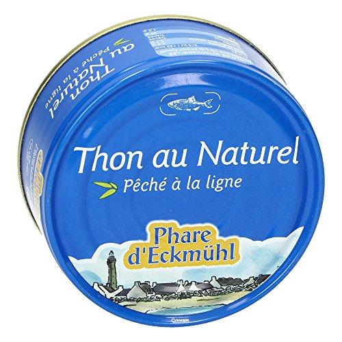 Phare d'Eckmül Thon Albacore Pêché Canne Au Naturel Bio 112 G - Lot De 7
