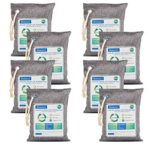 Purchase Homstect Bamboo Charcoal Air Purifying Bag, Nature Fresh Air Purifier Bags, Car Air Purifie...