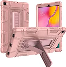 Samsung Galaxy Tab A 10.1 2019 Case, Sanhezhong Hybrid Shockproof Rugged Drop Protection Cover with Kickstand for Samsung Galaxy Tab A 10.1 Inch SM-T510 / T515(Rose Gold)