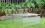 Zenport SH7005-2-ZD Double-Wide Folding Aluminum Cold Frame Greenhouse, 3.3 x 3.3 x...