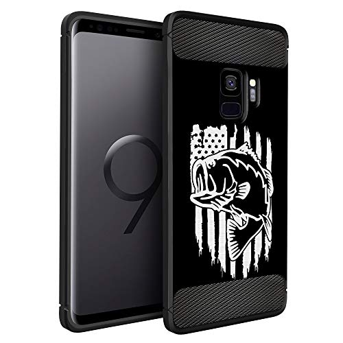 CasesOnDeck Case Compatible with Samsung Galaxy S9+ / S9 Plus, Slim Precise Fit TPU Case, Scratch Protection and Unique Design (Fishing USA Bass)