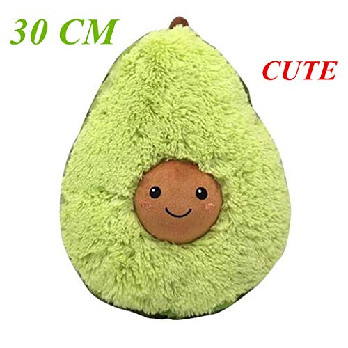 Stuffed Plush Avocado Toy Pillow Comfort Food Kids Gift Sofa Bed Decor Simulation Cute Plush Pillow Doll Christmas Birthday Valentine's Gift Baby Party Children's Christmas Child Gifts (30cm)