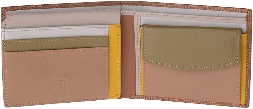 Dudu portafoglio porta carte di credito con protezione anticlonazione multicolore in pelle per uomo 8031847157307