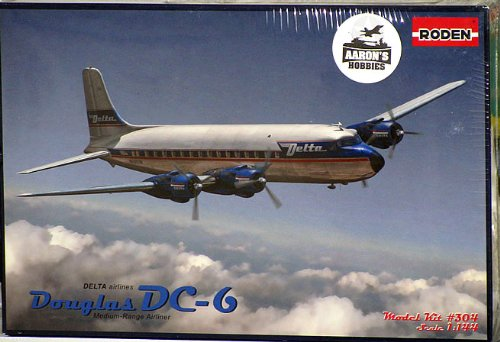 Roden DC-6 Delta Airlines Airplane Model Kit
