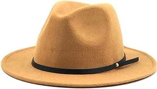 Sun Hat for men and women Fashion Fedora Hat Wool Felt Narrow Leather Bandwidth Side Gentleman Elegant Ladies Winter Autumn Jazz Hat Fedora Fashion Fedora Hat Wool Felt Narrow Leather Bandwidth Side G