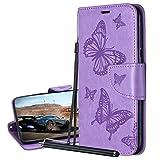 Laybomo Coque pour Samsung Galaxy A50 SM-A505F Housse Etui Cuir Style-Papillon Pochette Portefeuille...