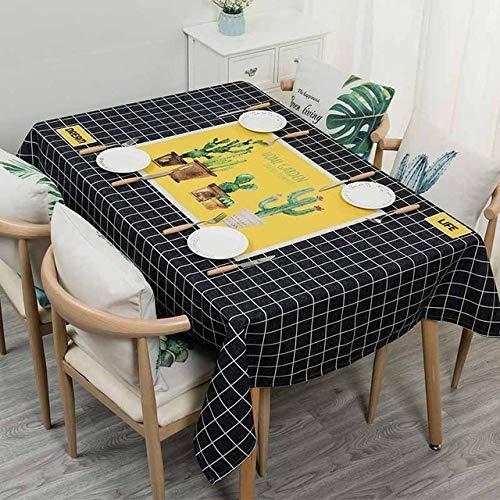 ShiyueNB tafelkleed met waterdicht tafelkleed, keuken, bloemendecoratie, tafelkleed, Nordic Home Decoratie, open haard sims tafel mesh rechthoekig tafelkleed 85X85CM A