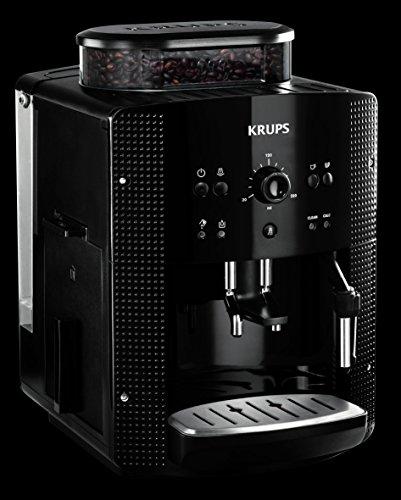 KRUPS ESSENTIAL NOIRE Machine à café à grain Machine à café broyeur grain Cafetière expresso 2...