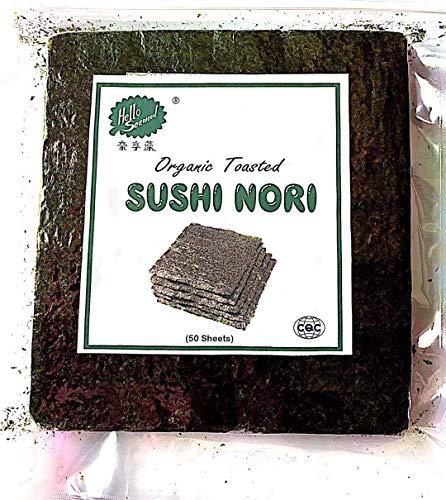 Orgánico Tostado Sushi Nori Algas (1bag (50 sheets))