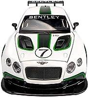 車種ベントレーGT3アロイカーモデル1:24シミュレーションアロイスポーツカー子供用おもちゃ車大型オープンドアサウンド&ライトコレクションボーイ/ガールギフト(カラー:ホワイト)対応