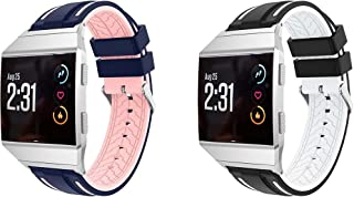 Gransho コンパチブル Fitbit Ionic 時計バンド 交換バンド (2-Pack J)