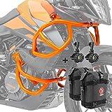 Set Defensas + Faro Adicional para KTM 390 Adventure 20-21 Naranja + K3