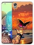 Sunrive Funda Compatible con Sony Xperia XA1 Plus, Sunrive Silicona Slim Fit Gel Transparente Carcasa Case Bumper de Impactos y Anti-Arañazos Espalda Cover(X Mariposa)
