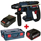 Bosch Akku-Bohrhammer mit Meißelfunktion GBH 18 V-EC solo in der L-Boxx Gr. 2 mit Einlage + 1x Akku 4,0AH + Ladegerät AL1860CV