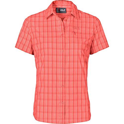 Jack Wolfskin Damen Centaura Stretch Vent Shirt W Kurzarm, hot Coral, S