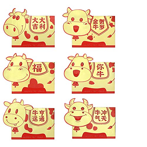 Chinese Red Envelopes, VIPTIH 2021 Chinese New Year Ox Hong Bao Lai See...