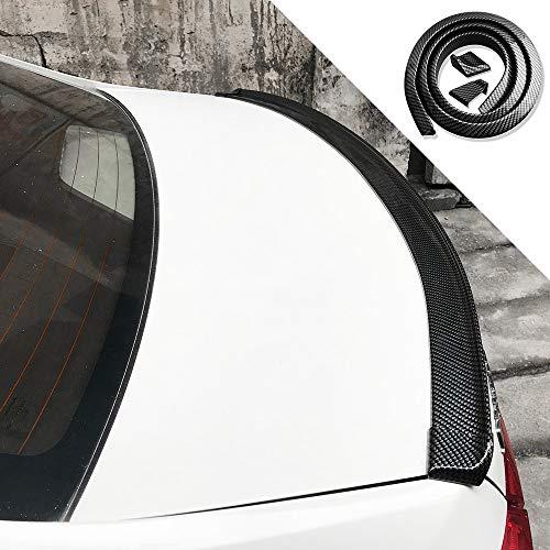 (Breite: 5 cm) Auto Rear Spoiler Universal Kofferraumspoiler Autodach Heckspoiler Spoiler Lippe für viele Fahrzeuge (Kohlefasermuster)
