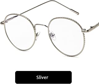 83c7b4daa73 D.king Floral Metal Frame Wire Rim Eyeglass Retro Oversized Circle Glasses