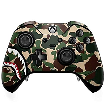 Skinit Decal Gaming Skin Compatible with Xbox One Elite Controller - Originally Designed Shark Teeth Street Camo Design