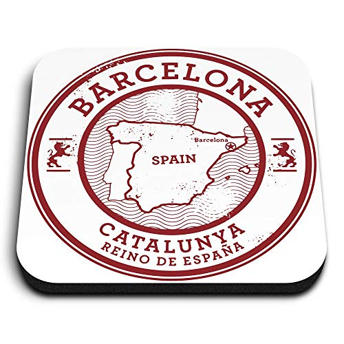 Destination Vinyl ltd Impresionantes imanes cuadrados MDF - Barcelona Catalunya España España...