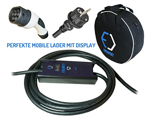 Cargador portátil inteligente Evse, tipo 2, 16A, 5Metros, 3,7kW