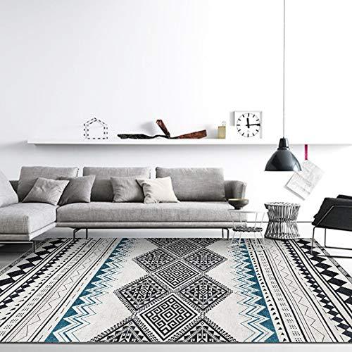 N\W Alfombra grande tejida moderna simple gris alfombra de salón dormitorio alfombra alfombra antideslizante baño puerta cocina pequeña