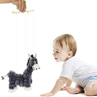 Mokylor Crazy Donkey, Pull String Puppet,Creative Plush Toys Marionette for Baby Boys and Girls Birthday Gift