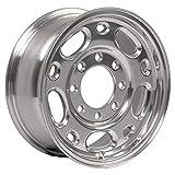 Partsynergy Replacement For 16' Rim fits 1997-2018 GMC Savana 3500 GMC Chevy Trucks Polished 16x6.5 Aluminum Wheel Hollander 5079