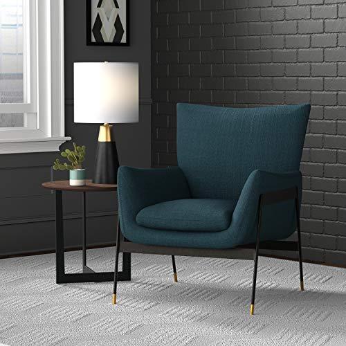 "Amazon Brand – Rivet Willard Contemporary Accent Lounge Chair, 26""W, Navy"