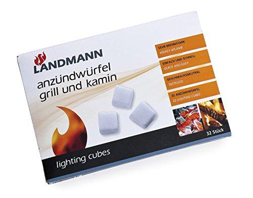 Landmann 143 Cubes Allume-Feu Barbecue et Cheminée Petrole 32 Cubes