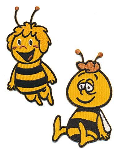 Kids Dreams Biene Maja und Willi Aufnäher Aufbügler Patch 2 Stück Kinder Zeichentrick TURBOVERSAND
