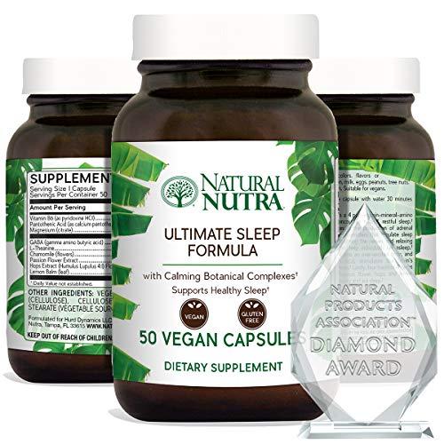 Natural Nutra Ultimate Sleep Formula - Natural, Herbal And Vegan Sleep Aid.