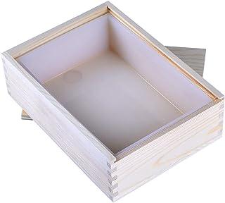Moule à savon fait main blanc en forme de moule à savon en silicone avec boîte en bois