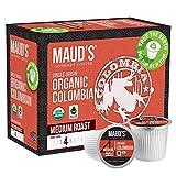 Maud's Organic Colombian Coffee (Organic Medium Roast Coffee), 24ct. Recyclable Single Serve Fair Trade Single Origin Organic Colombian Coffee Pods - 100% Arabica Coffee, Organic K Cups Compatible
