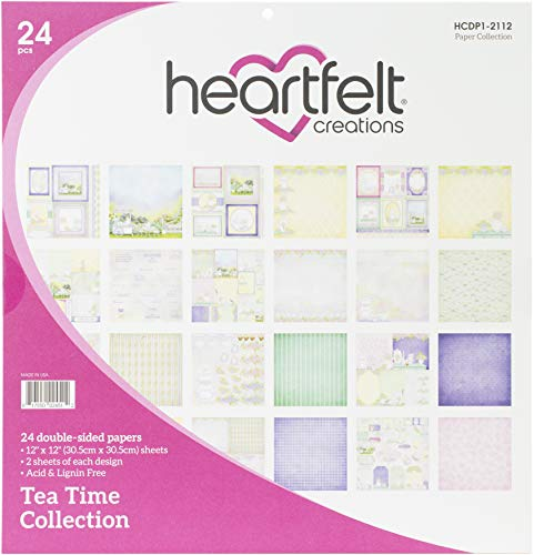 HEARTFELT CREATIONS HCDP1-2112 Heartfelt Paper COLL, Tea Time, 12 Designs/2 Each