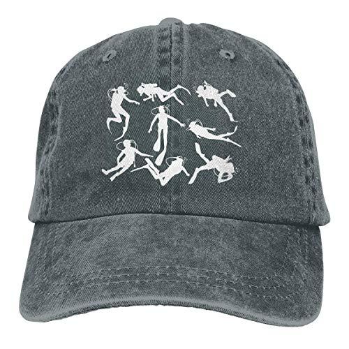 Hdadwy Adult Fashion Cotton Denim Baseball Cap Tauchen Classic Dad Hat Verstellbare Plain Cap