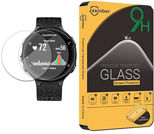 Jasinber [2-Pack] Mica de Vidrio Cristal Templado para Garmin Forerunner 235 Running Watch