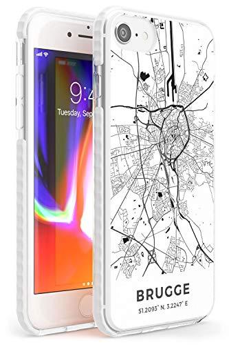 Case Warehouse Mapa de Nápoles, Italia Impact Funda para iPhone XR TPU Protector Ligero Phone Protectora con Viaje Pasión De Viajar Europa Ciudad Calles