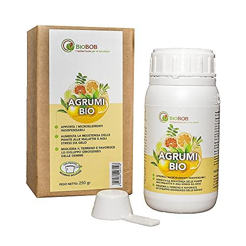 BIOBOB Concime Biologico concentrato specifico per Limoni e Piante di agrumi, Fertilizzante Liquido con Dosatore
