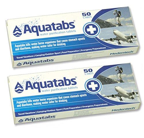 Outletdelocio. Pack de 100 Pastillas potabilizadoras para el Agua. Aquatabs. 🔥
