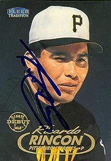 Ricardo Rincon autographed Baseball Card (Pittsburgh Pirates) 1998 Fleer Tradition #192 - Autographed Baseball Cards
