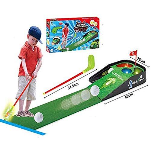 Yiyu Kinder-Minigolf-Praxistisch, Indoor/Outdoor Golf Eltern-Kind-Sportspielzeug - Minigolf-Set - Für Kinder Kleinkinder Erwachsene x (Color : Green)