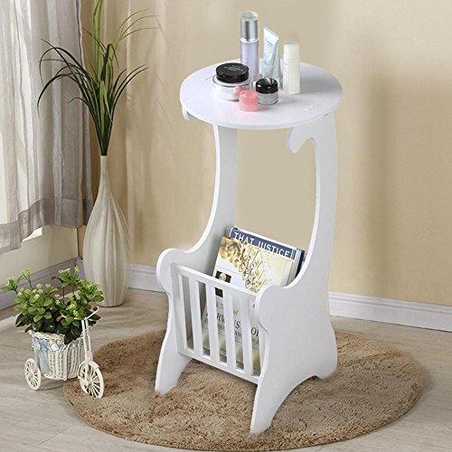 Yaheetech - Portariviste da tavolo rotondo in stile shabby chic, per camera da letto, casa e ufficio