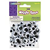 Creativity Street Wiggle Eyes, Black, Assorted Sizes, 100 Per Pack, 6 Packs